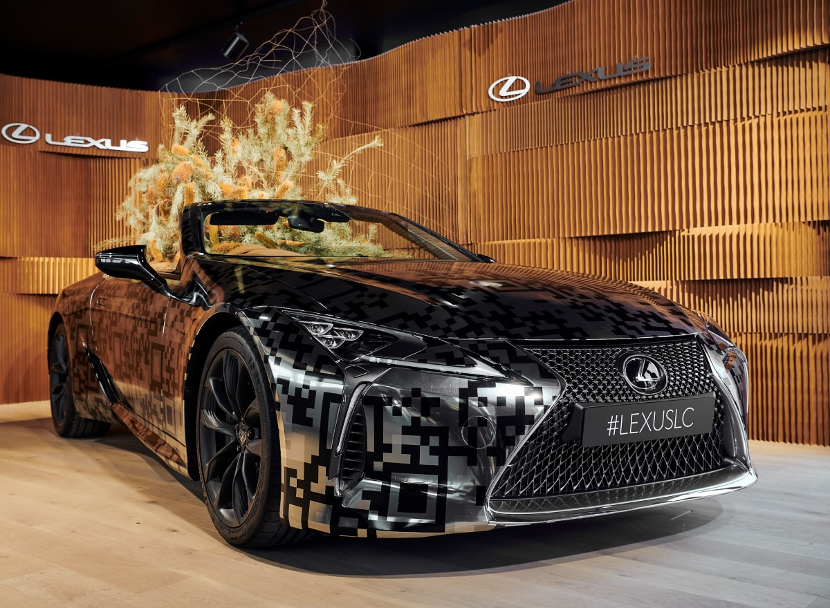 LC Convertible concept in Landmark by Lexus at the 2019 Lexus Melbourne Cup Carnival